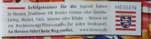 Das Bundesland Hessen wirbt für den Hessentag 2010 mit dem  Schwerpunkt Bildung