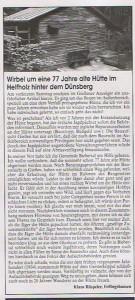 Stellungnahme Klaus Rüspeler zur geplanten Schutzhüttensanierung