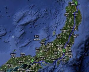 Rund 1200 Kilometer trennen eine großzügige Spenderin von den Erdbebenopfern im Nordosten Japans