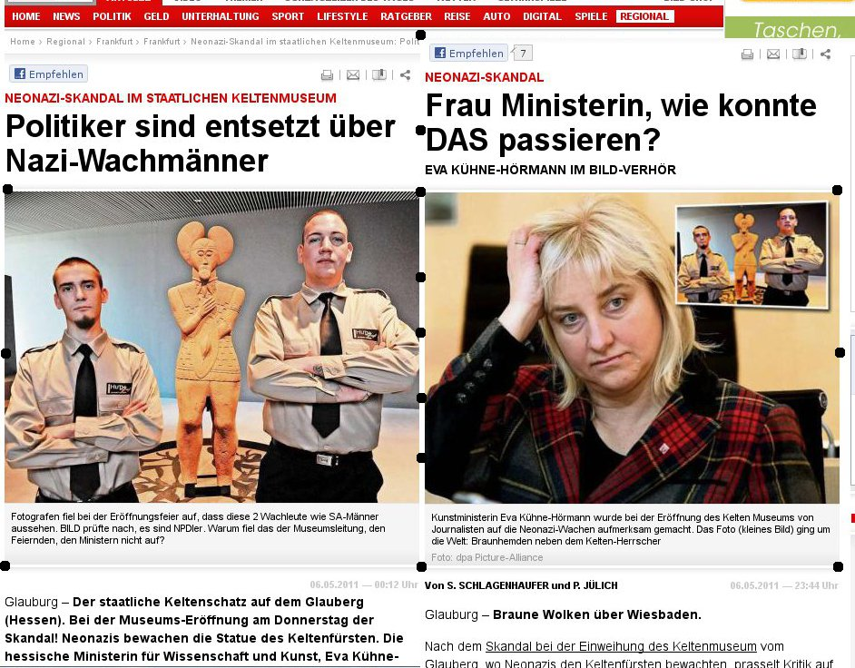 """Glauberg-Wachmann-Affäre: Hemdenaustausch und Wachmänner als """"Staffage"""" — Anzeichen auf von Bild inszenierten Medien-Skandal verdichten sich"""