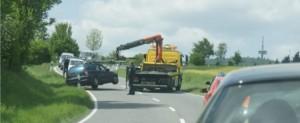 Fahrer aus Lohra leicht verletzt- Wagen wirtschaftlicher Totalschaden- Unfall auf Umgehungsstraße bei Wettenberg