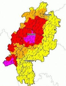 Mit einem Gewitter-Hagelschlag wurde das September-Hochsommer-Intermezzo in Mittelhessen beendet