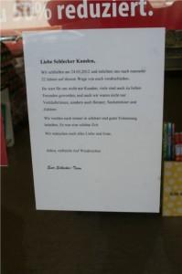 Schlecker in Mittelhessen — Sicher geht anders