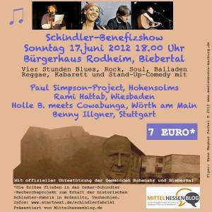 Benefiz-Show Schindler-Projekt 17. Juni Biebertal: Medieninformation für Mittelhessen und angrenzende Regionen
