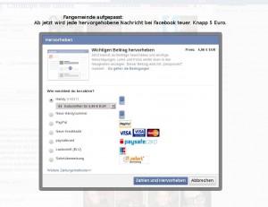 Eilnachricht für Mittelhessen: Facebook-Hervorhebung kostet ab sofort 4,96Euro
