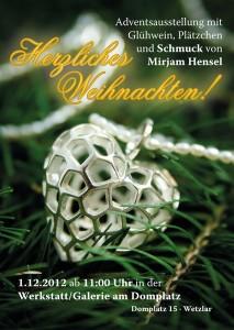 Schmuckdesignerin Mirjam Hensel stellt am 1. Advent in Wetzlaraus
