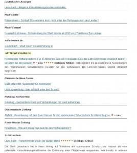 In eigener Sache: Berichterstattung über mögliche Folgen des Rettungsschirm für Lahn-Dill-Kreis bringt Mittelhessenblog Referenzplatzein