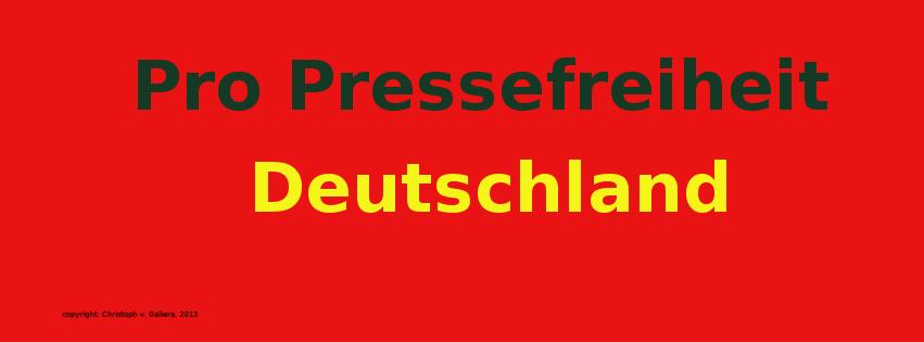 Wie steht es um die Pressefreiiheit in Deutschland? Dazu begann am 14. Februar 2013 die Aktion Pro Pressefreiheit
