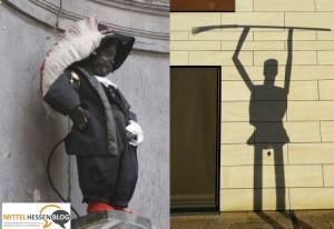 Manneken Pis in Mittelhessen — oder das Spiel von Licht und Schatten in Gießen