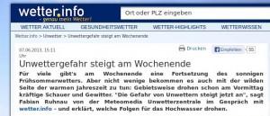 Kurzgucker: Wieso Meteomedia über das Wetter  heute keine Auskunft geben wollte