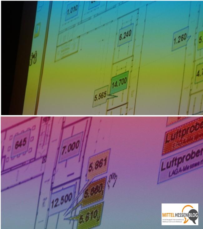 Bis zu 14000 Nanogramm PCB je Kubikmeter Raumluft wurden in der Herderschule in Gießen im Juli 2013 festgestellt.