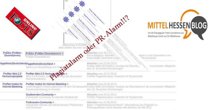 Wieviel PR-Trick steckt im Plagiatsvorwurf gegen Steinmeier? Montage: Mittelhessenblog