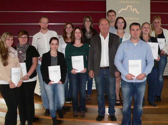 Hubert Kleinert und die Studenten, die an der Studie mitarbeiteten