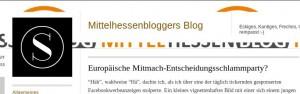Deutschstunde und Wahl-Schlammparty -alles im Mittelhessenblogger — dem Blog zum Mittelhessenblog