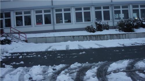 Für die Schüler der Dünsbergschule in Erda brachte Orkantief Xaver am Nikolaustag schulfrei.