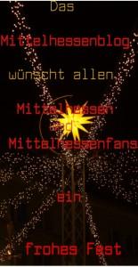 Fröhliche Weihnachten für  Mittelhessen vom Mittelhessenblog.
