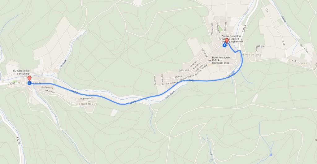 Folgenschwere Begegnung: Ein Waldsolmser und ein Frankfurter stießen mit ihren Autos auf der L3053 zwischen Espa und Weiperfelden zusammen und verletzten sich schwer.