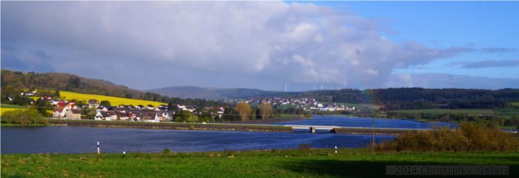 Nordseefarben in Mittelhessen am Aartalsee. Foto: v. Gallera