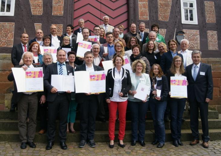 Von dreizehn Landessiegern drei aus Mittelhessen bei Ab in die Mitte! Foto : v. Gallera