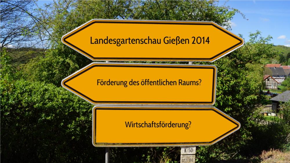 Landesgartenschau: Am Ende nur eine mit viel öffentlicher und ehrenamtlicher Hilfe organisierte Verkaufsförderung? Foto u. Montage: Mittelhessenblog.de