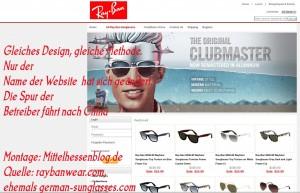 Mittelhessen müssen immer noch aufpassen: Chinesen scammen weiter mit billigen Ray-Ban-Brillen