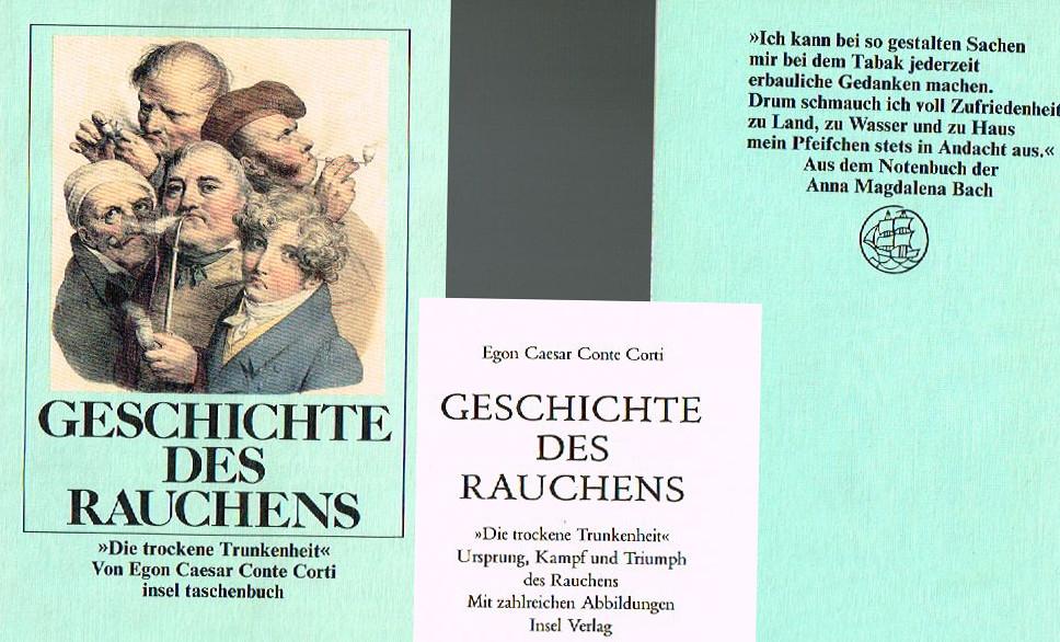 """Ein Buch, das es so nicht mehr gibt: """"Geschichte des Rauchens"""" - Quelle: Insel-Verlag. Montage: Mittelhessenblog.de"""