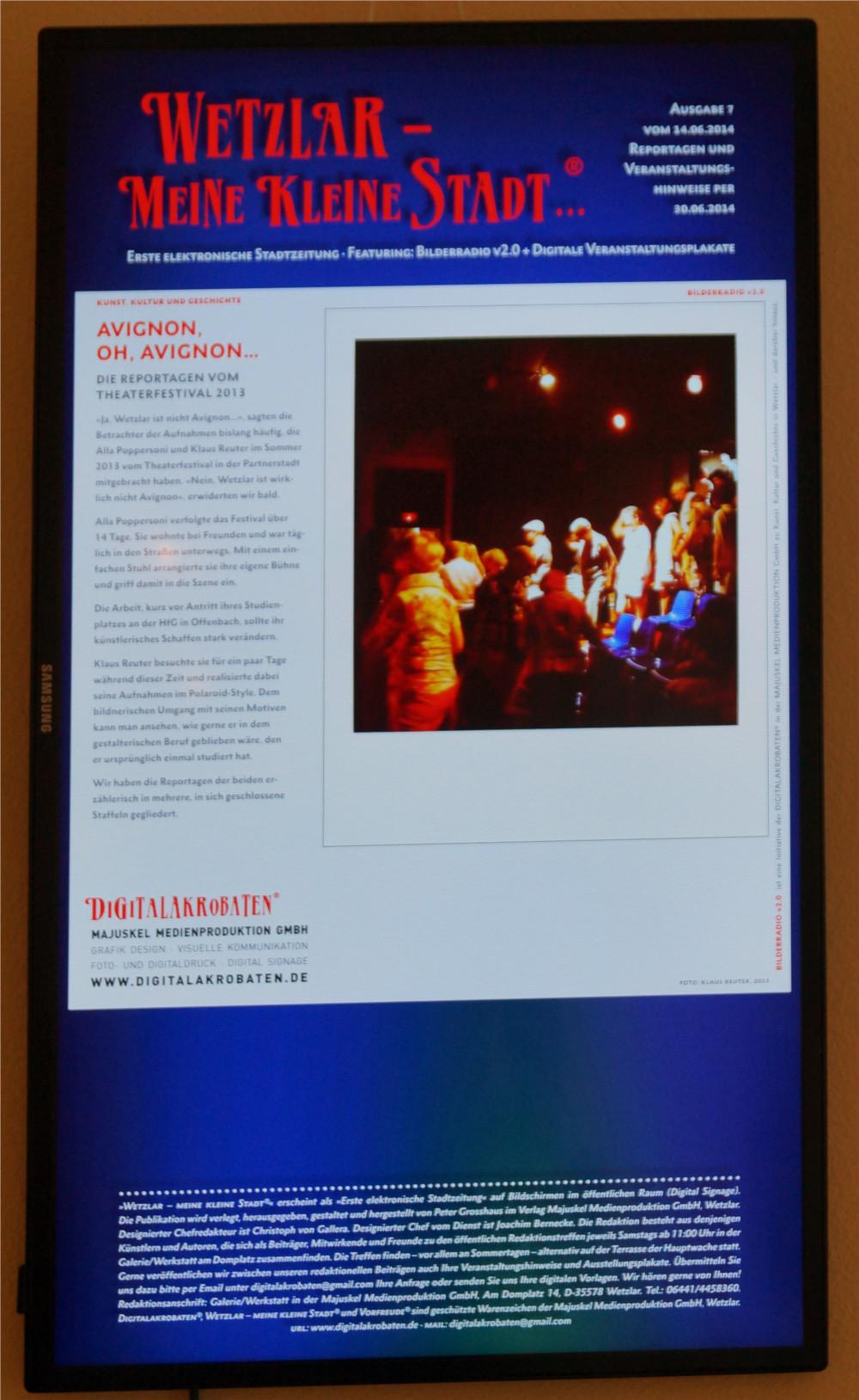 Bilder erzählen Geschichten - über das Theaterfestival in der Wetzlarer Partnerstadt Avignon. Foto: Mittelhessenblog.de