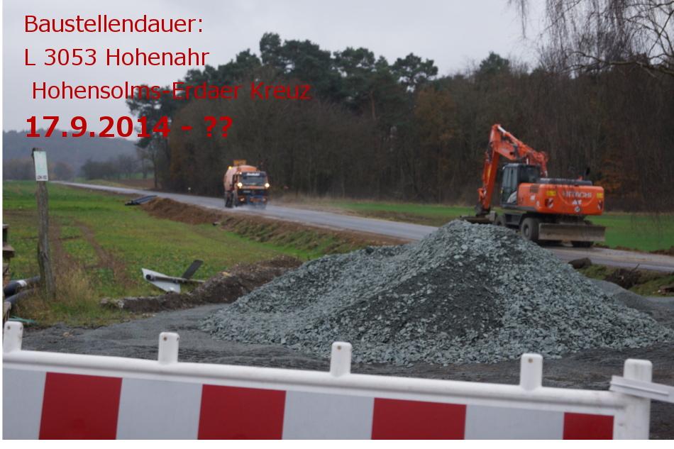 Rund zwei Monate später sind die Straßenbauarbeiten zwar weiter fortgeschritten. An der informationspolitik hat sich bei dieser Baustelle für den vorbeifahrenden Verkehr aber nichts geändert. Bild: v. Gallera - Mittelhessenblog