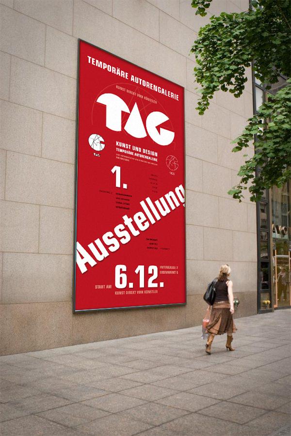 Der Wißmarer Künstler Erhard Waschke, der ebenfalls regelmäßiger Teilnehmer der Wetzlarer Künstlertreffen ist, hat dieses Premierenplakat kurzerhand an die Außenwand der ehemaligen Galerie Kaufhof in Gießen gezaubert. Bild u. Montage: Erhard Waschke, Wißmar