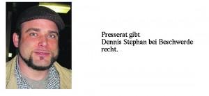 Presserat gibt Gießener Kreistagsmitglied Stephan bei BeschwerdeRecht