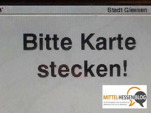 """Sprachkarneval:  Gießen ist bunt —  """"Bitte Karte stecken!"""""""