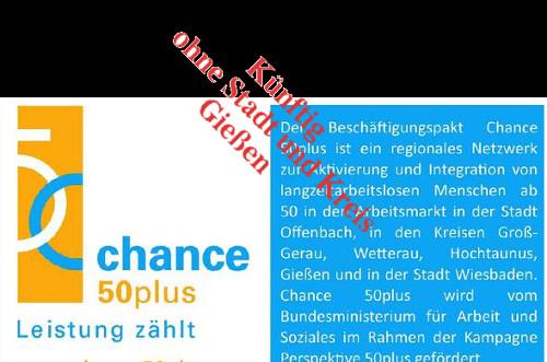 In Wiesbaden hat man erfolgreich eine Lösung für die Fortsetzung der Unterstützung arbeitsuchender Menschen ab 50 gefunden. In Stadt und Landkreis Gießen ist Ende 2015 wirklich Schluss. Montage: Mittelhessenblog