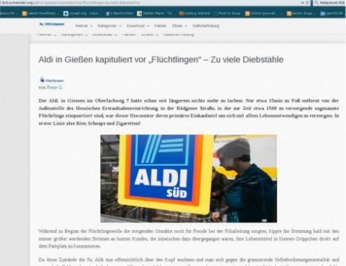Die Seite brd-schwindel.org weist weiter auf den angebliche Aldischließung in Gießen hin. Quelle: brd-schwindel. Grafik: Mittelhessenblog