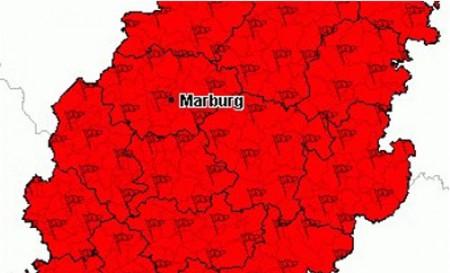 Mit Windgeschwindigkeiten bis zu 100 km/h zog Zejlko ab Sonnabendmittag über Hessen und Mittelhessen hinweg. Bildquelle: Unwetterzentrale.de/Bearbeitung: Mittelhessenblog.de
