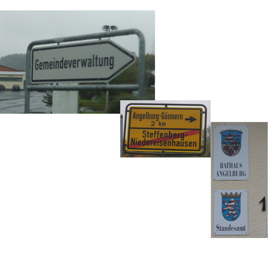 Nüchterner Weg, eher repräsentativ oder noch etwas ganz anderes in Angelburg und Steffenberg....Fotos: v. Gallera. Kombografik: Serta, Mittelhessenblog