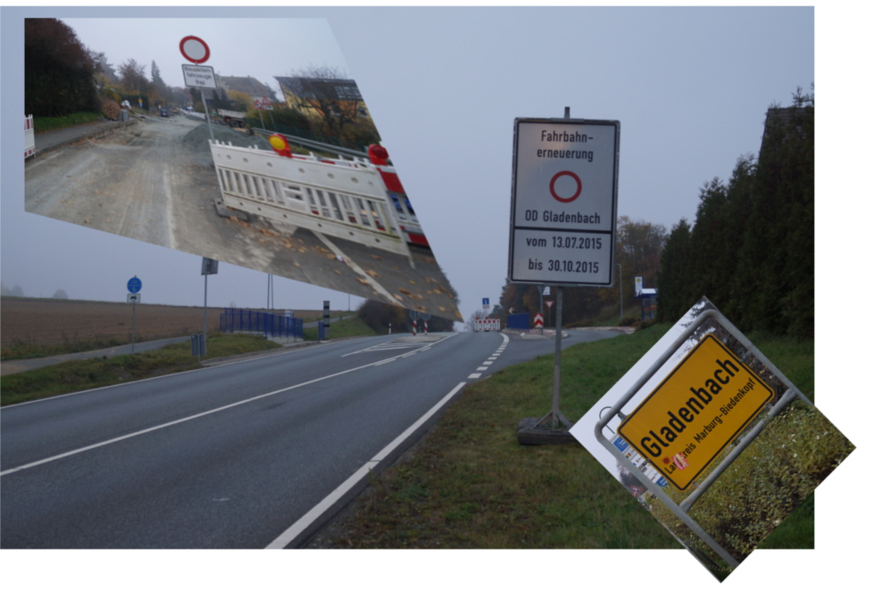 Gladenbach zieht sich. Bis Ende November vorneweg. Fotos: v. Gallera. Collage: Serta, Mittelhessenblog