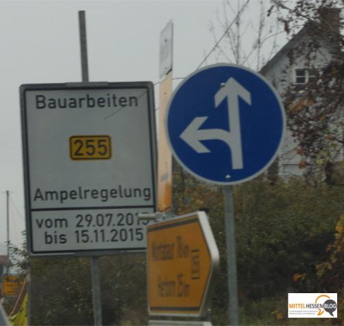 Eigentlich hätte in Weidenhausen am 30. Oktober hier der Verkehr fließen sollen. Offiziell nun wurde bis 15. November verlängert. Möglicherweise aber könnte die Baustelle schon am 9. oder 10. November Geschichte sein. Foto: v. Gallera