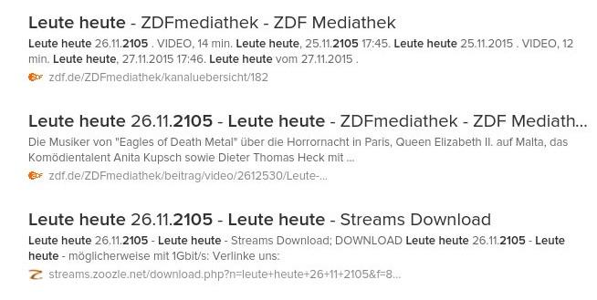 Direkt ganz oben im Suchmaschinenranking: Der 26. November 2105...Grafik: serta, Mittelhessenblog