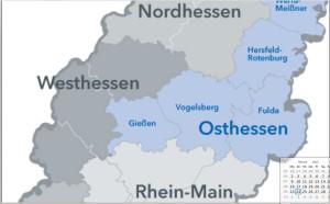 Wo liegt denn nun dieses Mittelhessen? In Osthessen? Oder im Westen?