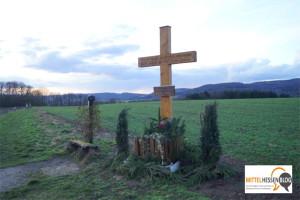 """Ein Feldkreuz in Mittelhessen und der """"aggressive Flüchtling"""""""