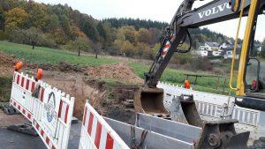 Die Erschließungsarbeiten freuen nicht jeden Anwohner der Dreispitz in Fellingshausen: Foto: v. Gallera