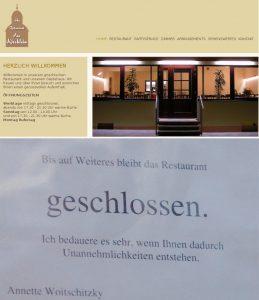 "Persönliche Gründe ausschlaggebend: Restaurant ""Am Kirchlein"" dauerhaft geschlosssen"
