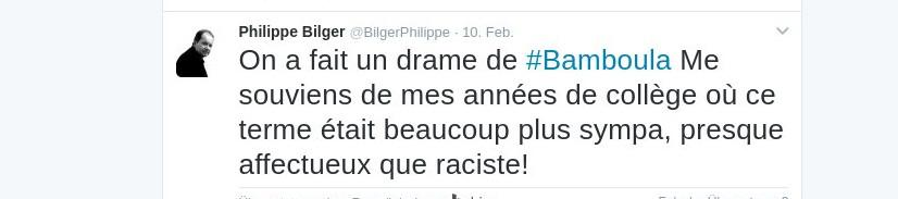 Tweet Philippe Bilger, 10. Februar 2017