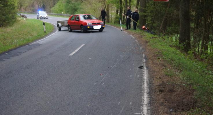 """Glück im Unglück: 21-jähriger Motorradfahrer """"nur"""" schwer verletzt"""